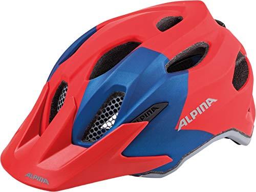 ALPINA Kinder Carapax Fahrradhelm, red-Blue, 51-56 cm (Bike-helme Mädchen Schmutz)