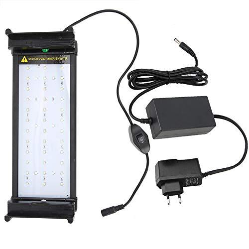 Pssopp Aquarium LED Beleuchtung Aquariumbeleuchtung Lampe Aquarium Lampe LED Aquarium Licht Bunte Pflanzen Beleuchtung Lampe mit Verstellbarer Halterung für 30-70cm Aquarium(7.5 W) (Led Pflanzenbeleuchtung Aquarium)