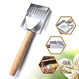 A-lee Bienenzucht Honigschleudern mit Holzgriff Gabel Schaber Messer Bee Keeping Stainless Steel Uncapping Fork Verschachtelung Honigschleudern Werkzeuge Zubehör