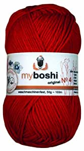 10 x 50 G de laine myboshi no 4 432 rouge)