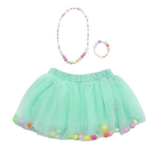 Amphia - Kinder Carnival Tutu - Mesh Rock - Tutu Rock - 3 Stücke Hohe Qualität Baby Mädchen Kinder Tutu Ballett Röcke + Armband + Halskette Party - 3 Stück Plaid Kostüm