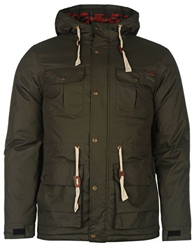 Lee Cooper -  Giacca - Parka - Uomo Army Green Small