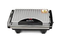 Nova NGS 2449 1000-Watt 2-Slice Sandwich Maker (Black/Grey)