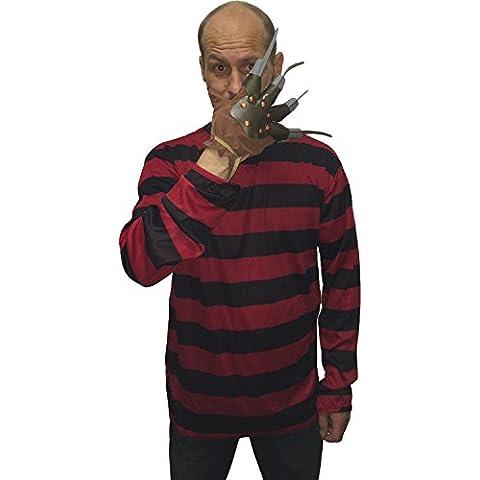 shootingduck.com - Disfraz de Freddy Krueger para adulto (camiseta y guante con cuchillas)