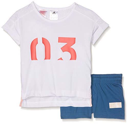 adidas Kinder LG ID Sum Set Trainingsanzug, Weiß (Blanco), 104