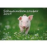 Schweinchenzauber · DIN A3 · Premium Kalender 2019 · Glück · Schweinchen · Schwein · Bauernhof · Natur · Tiere · Edition Seelenzauber