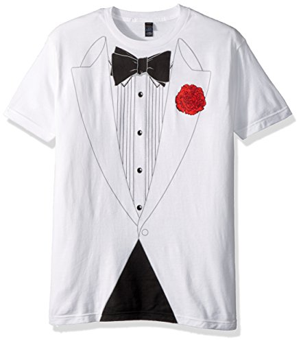 Greucy-dark Original Retro Basic Tuxedo T-Shirt - White -