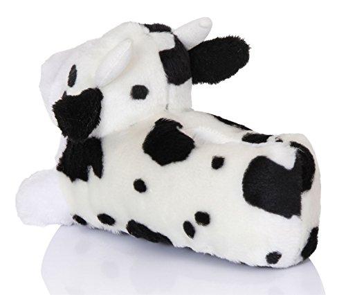 Unisex Tierhausschuhe aus Plüsch - Kinder & Erwachsene Cara die Kuh