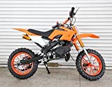 R JAG TOYS Kid's Dirt Bike 49cc Engine with Cell-Start (Orange)