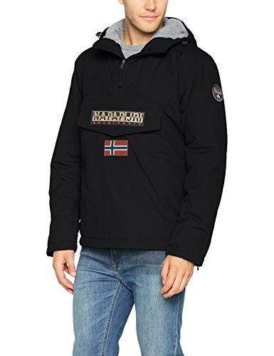 Napapijri Herren Rainforest Winter Jacke, Schwarz (Black 041), Medium