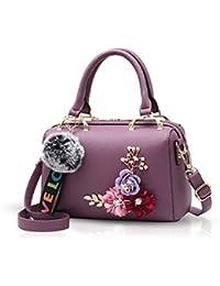 df39696937 NICOLE & DORIS Nuova borsetta per donna borsa a mano borse floreali borsette  a tracolla con pompon ciondolo botte.