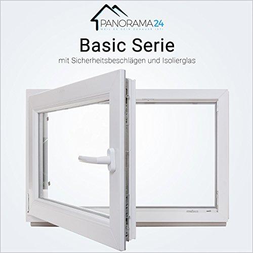 Kellerfenster - Kunststoff - Fenster - weiß - 2-fach-Verglasung - BxH: 50x40 cm - DIN rechts - 60mm Profil - verschiedene Maße - LAGERWARE