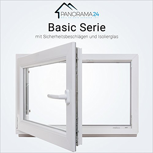 fenster 80x60 Kellerfenster - Kunststoff - Fenster - weiß - 2-fach-Verglasung - BxH: 80x60 cm - DIN links - 60mm Profil - verschiedene Maße - LAGERWARE