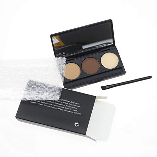 eegwbang Augenbrauenpuder Frauen wasserdicht Augenbrauenpuder Lidschatten Augen Make-up Kosmetik 3 Farbe