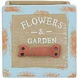 Scrafts Small Flower & Garden Square Shaped Blue Artificial/faux/original Flowers/plants Ceramic/porcelain Vases For Home Décor/living Room Décor/party Décor/wedding Décor/office Décor LWH(cms)=8x8x8