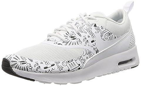 Nike Wmns Air Max Thea Print, Chaussures de Sport Femme, Blanc (Blanc / Blanc-Blanc), 36 1/2 EU