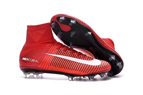 Botas de fútbol Yurmery Shoes Mercurial SuperflyVFG, para hombre, color Rojo, talla 39 EU