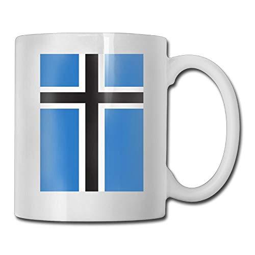 Daawqee Becher Coffee Mug Flag of Estonia Mugs Cool Ceramic Coffee Tea Cups Double-Side Printing 11oz (Den Ruhestand Für Mittelstücke)