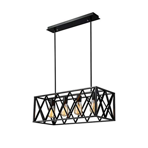 etro Schwarz Schmiedeeisen Lampe Wohnzimmer Anhänger Dekoration Großhandel Versorgung Kreative Persönlichkeit LED Lampe - Kronleuchter 7902 ()