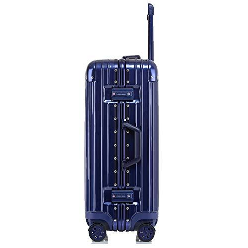 Preisvergleich Produktbild Z&YY Kratzfester Aluminium-Rahmenkoffer Universal-Radkoffer Studentenkoffer Koffercode (20/24/26/29 Zoll) (Farbe : Blue-Mirror, größe : 22 inches)
