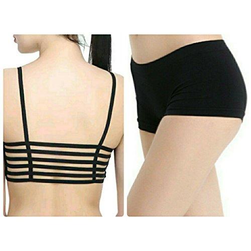 Indian Life Style Lingerie Set Brallete Bra Pads & short panty ( Black) (REMOVABLE PADS)