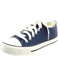 Sopily - Scarpe da Moda Sneaker bi-materiale alla caviglia donna trapuntata Tacco a blocco 2.5 CM - soletta sintetico -