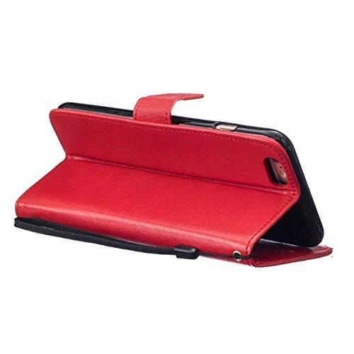meision iPhone 6plus iPhone 6splus Étui en cuir Coque protective-taken Étui portefeuille iPhone 6plus