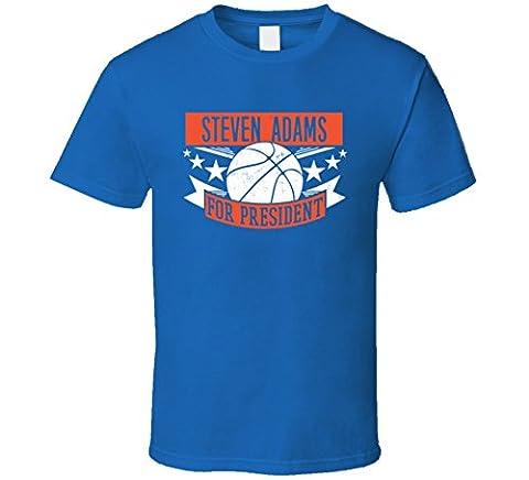 Steven Adams For President Oklahoma City Basketball Player Sports T Shirt Medium
