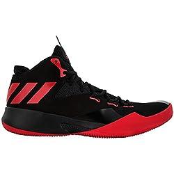 adidas Dual Threat 2017, Zapatillas de Baloncesto para Hombre, Rojo (Escarl/Negbas / Ftwbla), 45 1/3 EU