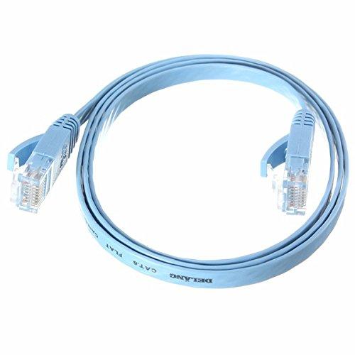 Tutoy 1M RJ45 Flat CAT-6 Ethernet Internet Netzwerk LAN Kabel Patch Lead Für PC Router -Blue