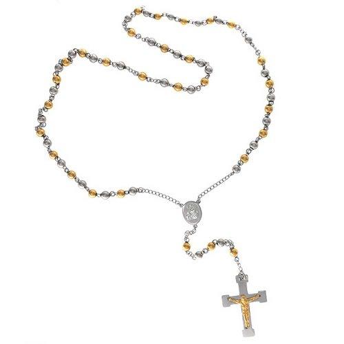 bling-jewelry-mens-acero-chapado-en-oro-dos-tonos-collar-rosario-cruz