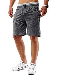 Minetom Verano Hombre Bermuda Casual Cintura Elástica Bolsillos Pantalones Cortos Deportivos Shorts Deporte Que Activan