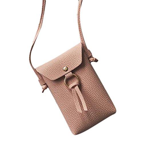 Wicemoon PVC Sac à Sac Housse portefeuille Trousse cosmétique Sac de rangement Sac à main de stockage de petites choses pour femme Lady 11 x 17 x 3cm rose