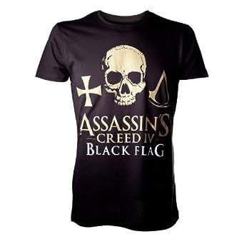 Tshirt Assassin's Creed IV Skull Golden Taille S