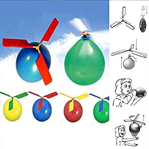 Shatchi HELICOPTER-BALLOONS-12PK-3657 12 piezas globos de helicóptero para fiesta de piñata de golosinas, regalo de Navidad, calcetín de regalo, juguetes, multi