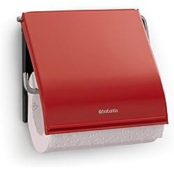 Brabantia 107863 Porte-Rouleau de Papier Toilette Métal Passion Red