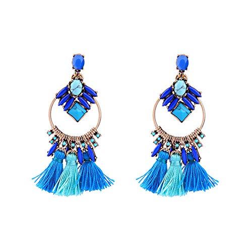 WOVP Ohrringe Modetrends Quaste Ohrringe Frauen Party Modeschmuck Ohr Piercing Blau Ohrringe