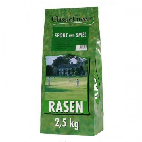 Classic Green Rasen Sport & Spiel 4 x 2,5 kg, Nachsaat, Rasensaat