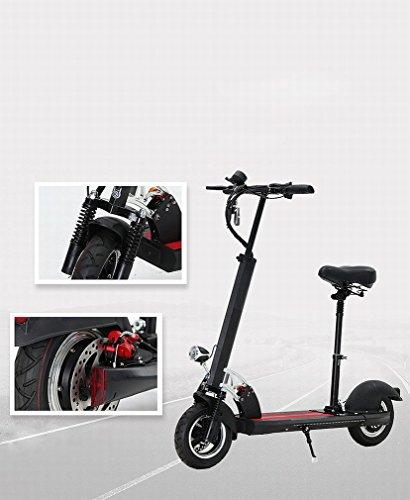 PH moda Scooter eléctrico portátil plegable adulto bicicleta de amortiguación en nombre de conducción dos rondas de litio recargable Scooter,...