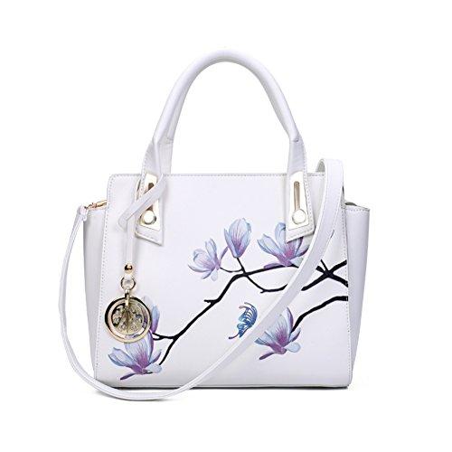 stampa bag/Retrò fiore peonia Pack/Borsa a tracolla/Ali di Magnolia-F F