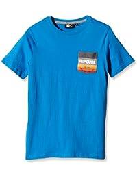Rip Curl Pocket SS Tee - Camiseta de manga corta para niños, color azul, talla 14