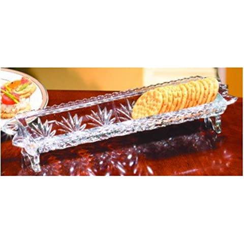 PORTICO COLLECTION 24% LEAD CRYSTAL CRACKER TRAY by Crystal Clear