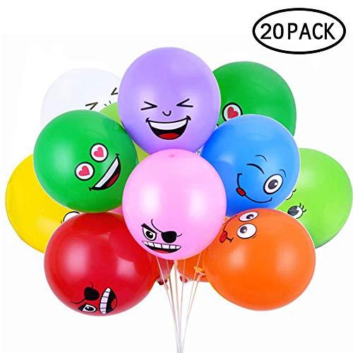 FOONEE - Globos de Emoji (100 Unidades, 30 cm, látex, Multicolor)