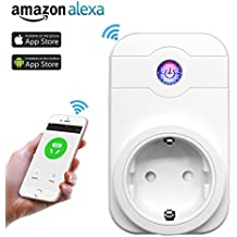 YAGALA WiFi Smart enchufe, WiFi inteligente Home Socket con Timing Función, compatible con Amazon Alexa Echo/Echo Dot para Android y iOS Smartphone
