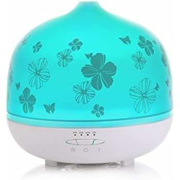 Essential Oil Diffuser, ISELECTOR 500 Milliliter Aroma Diffuser Aromatherapy Diffusers With 7 Color LED lights,Cool Mist Waterless Auto Off Glass Ultrasonic Humidifier For Home, Yoga, Office, Spa, Bedroom, Baby Room