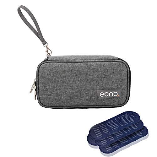 Eono by Amazon - Groß Diabetikertasche Kühltasche Insulin Tasche für Diabetes Spritzen,Insulininjektion und Medikamente + 4 Kühlakkus