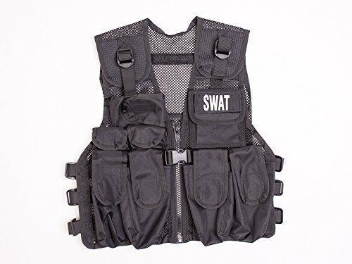 Kostüm Polizei SWAT Police Navy Seals Abzeichen Officer Agent Militär Armee Weste für Kinder Jungen Frauen Verkleidung Taktische Weste Qualitätsprodukt (Polizei Für Kostüm Männer)