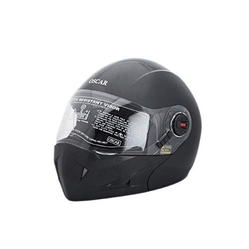 286c4367 AUTOTRUMP Steelbird SB 41 Oscar Classic Flip-up helmet with Cable Lock  (Black,