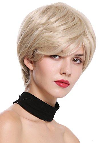WIG ME UP - IRIS-22H613 Damenperücke Perücke kurz voll Volumen glatt Blond Platinblond ()