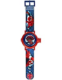Spiderman Boy 's reloj digital con pantalla digital Dial de color rojo y azul correa de plástico spm59